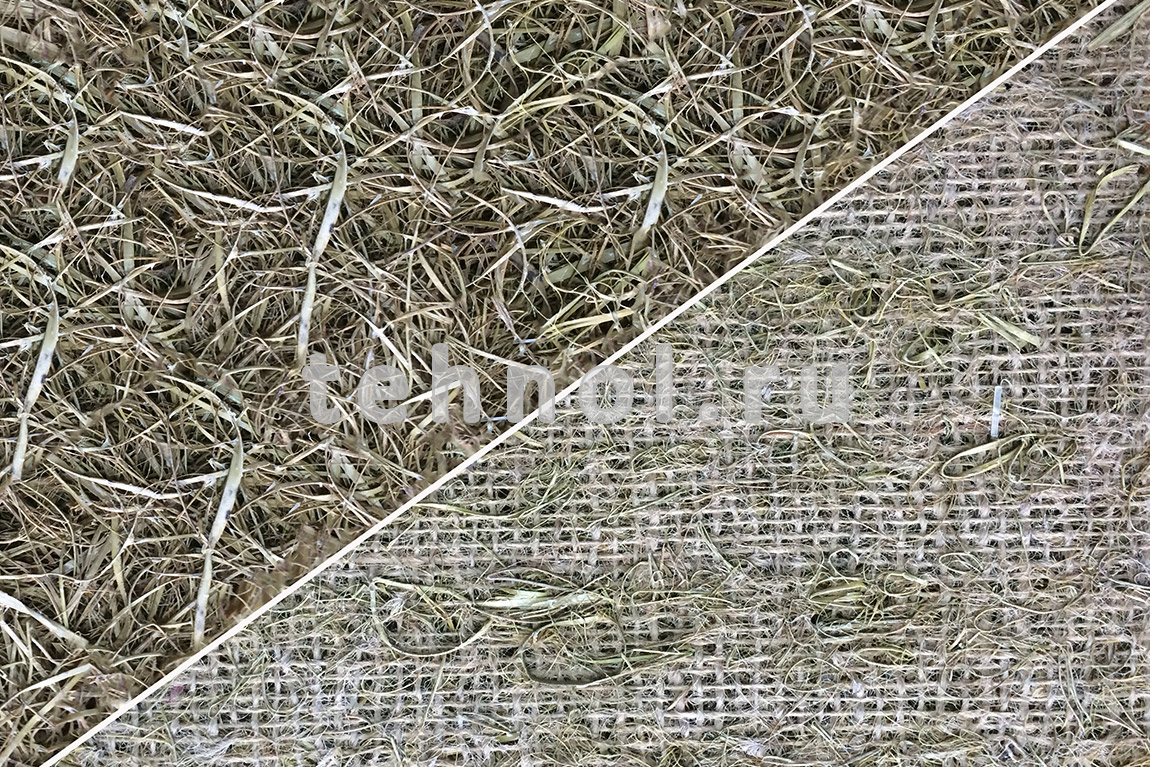 Wrack on the basis of jute